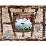 Fototapete Steinwand Naturstein - Vlies Wand Tapete Wohnzimmer Schlafzimmer Büro Flur Dekoration Wandbilder XXL Moderne Wanddeko - 100% MADE IN GERMANY - 9308010c
