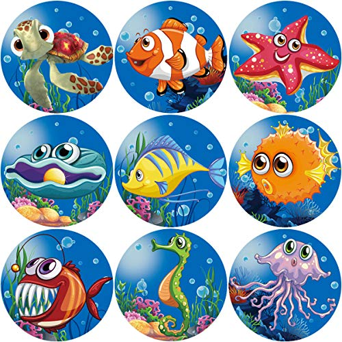 Fancy Land Tropical Sea Life Perforated Roll Stickers 200pcs Party Decoration Sticker