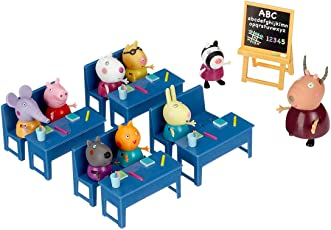 Peppa Pig Classroom Playset - with 8 Characters Peppa & Friends