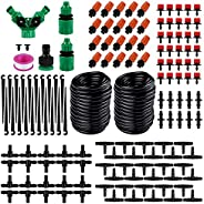 Numeo 30M Micro Drip Irrigation Kit,Patio Plant Watering Kit Garden Mist Cooling Irrigation System Automatic M