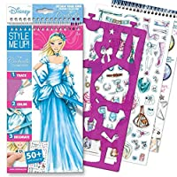 Style Me Up - Fashion Design Colouring Sticker Book for Girls. Great Present/Gift - Disney Cinderella Collection - SMU-2003