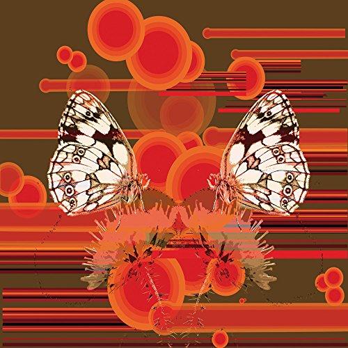 Apple iPhone 4 Housse Étui Silicone Coque Protection Papillon Cercles Papillons Sideflip Sac