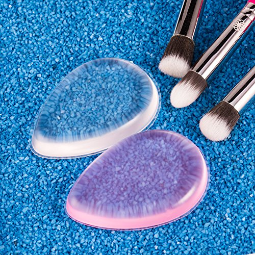 amoore 2-pack Makeup Sponge Puff Makeup Blending Sponge Makeup Blender Foundation Sponge Concealer Sponge Applicator Sponges for BB Cream and Liquid Foundation (2 Pack, Silicone Sponge)