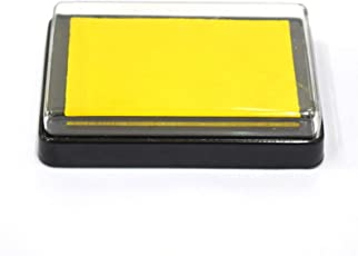 Asian Hobby Crafts Ink Pads for Rubber Stamps, Fingerprint Ink, DIY Craft : Yellow