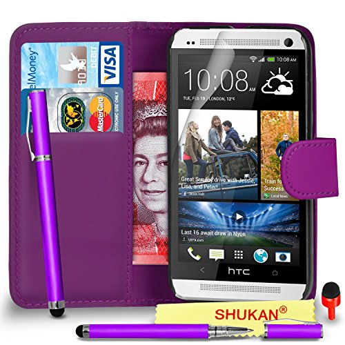 htc-one-m7-premium-leather-dark-purple-wallet-flip-case-cover-pouch-2-in-1-ball-pen-touch-stylus-pen