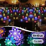 InnooLight 4m 40er bunte Lotosblumen LED Lichterkette Innen als Batteriebetriebene Lichterkette mit Batterie , Innenbeleuchtung, Außenbeleuchtung
