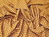 Floral Print weiche Gewebe der Kleid ocker–Meterware