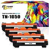 Toner Bank 4 Pack XXL TN1050 Kompatibel für Brother DCP-1510 DCP 1512 1510 1612w 1512 1610 1610w MFC 1910w 1910 1810 HL 1110 1112 1210W HL-1212w DCP-1610w DCP-1612w DCP-1512 DCP1510 DCP1512 HL1110 Druckerpatrone