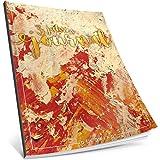Dékokind® 3 Jahres Journal: Ca. A4-Format, 190+ Seiten, Vintage Softcover • Dicker Jahreskalender, Tagebuch für Erwachsene, Kalenderbuch • ArtNr. 05 Feuerrot • Ideal als Geschenk