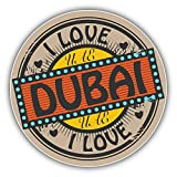 I Love Dubai Uae Travel Label Art Decor Vinyl Sticker Aufkleber 12 x 12 cm