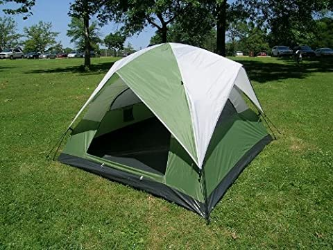Three-Person Camping Dome Tent 7 Feet X 7 Feet One Touch Set Up by Leberna
