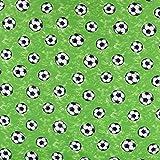 Jersey Baumwolljersey Jerseystoff Fußball grün weiß schwarz 1,50m Breite