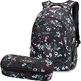 DAKINE 2er SET Rucksack Schulrucksack Laptoprucksack 25l PROM + SCHOOL CASE Mäppchen Flora