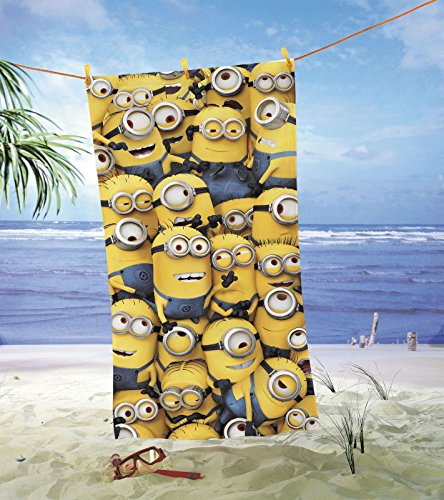 Minions Strandtuch Ich - Einfach unverbesserlich Duschtuch Badetuch 75x150cm (Kevin Der Minion Kostüm)