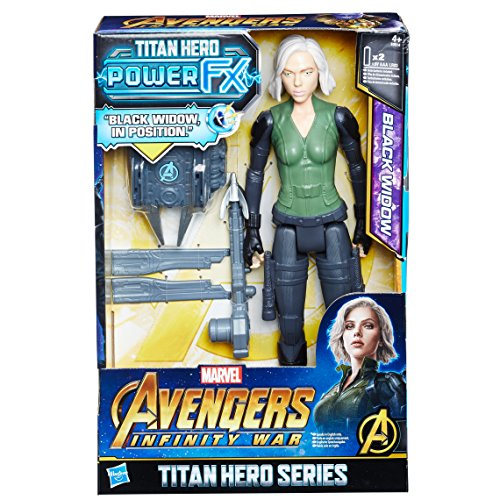 Hasbro Avengers E0614EW0 - Marvel Titan Hero Black Widow Actionfigur, mit Power FX Pack