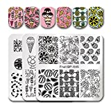 Born Pretty 3Pcs Nail Art Stamping Plate Star Fruit Summer Airplane Manicure Image Plate DIY Nail Print Tool