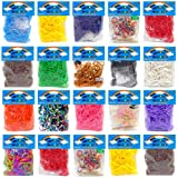 2400 Colourful Rainbow Rubber Loom Bands With Clips