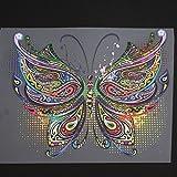 Hergon patchs à DIY Papillon Patch fer sur T-shirt Robe transfert de chaleur Autocollant Décor