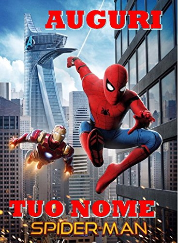 Spiderman Home Coming Herren Spinne Waffel in Ostia für Kuchen personalisierbar-Kit N ° 7cdc- (1Waffel in Ostia Abmessungen Folio A4210× 297mm)