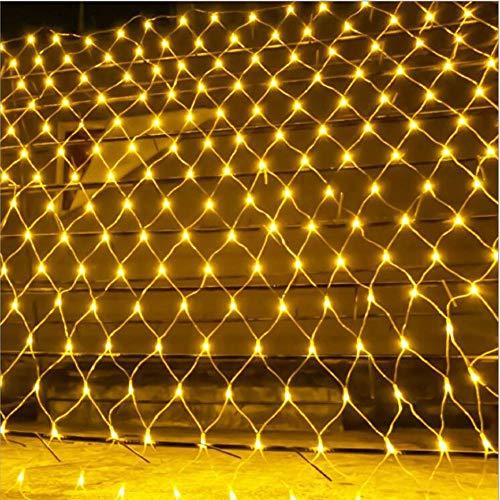 W&z luce stringa all'aperto a rete luci decorazione lampada illuminazioni per albero di natale camera giardino compleanno feste,warmwhite,1.5mx1.5m