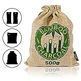 Amazy Bambú naturale deodorante purificatore d'aria - Purificatore d'aria versatile utilizzabile per soggiorno, camera, cucina, bagno, auto, ecc. - non inquinante e biodegradabile al 100% (marrone).