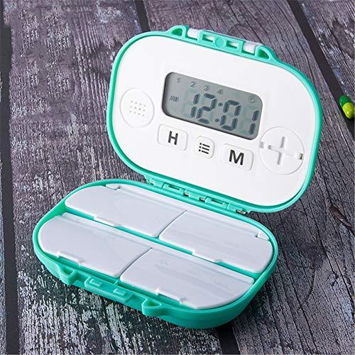 QINAIDI Pill Organizer, Pill Reminder Alarm, für Vitamin/Fischöl/Supplements/Pills Container, elektronische Smart Pill Box -