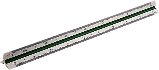 SODIAL(R) Righello triangolare in plastica 1:20 1:25 1:50 1:75 1:100 1:125