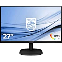 "Philips 273V7QDSB Monitor 27"" LED IPS Full HD, 4 ms, 3 Side Frameless, Low Blue Mode, Flicker Free, HDMI, DVI, VGA, Attacco VESA, Nero"