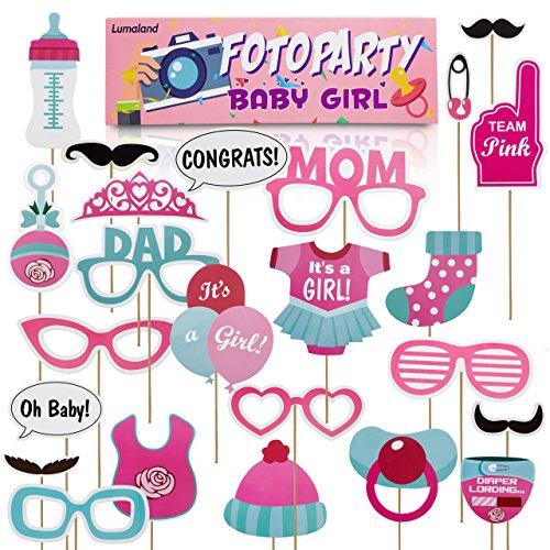 Lumaland Fotoparty Set Baby Girl lustige Foto Props und Requisiten Sets mit Fotoaccessoires für verschiedene Anlässe