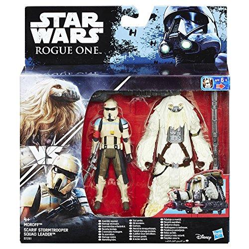 STAR WARS, Confezione Deluxe con Action Figure dello Stormtrooper di Scarif e Moroff