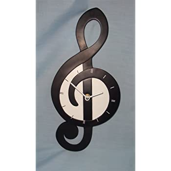 My Music Gifts Wall Clock Treble Clef Shaped Ceramic