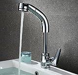 Alle Kupfer Lift Silber Ziehen Becken Basin Becken Heißer Und Kalter Wasserhahn Teleskop Drehbare Shampoo Wasserhahn