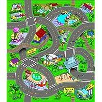 Spielteppich-Kinder-Teppich-Straenteppich-Teppich-Straen-Spiel-Autoteppich-mit-Spielauto