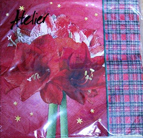 k, 3 lagig, 33cm x 33cm, Weihnachtsmotive, Adventszeit, Weihnachtsservietten, Weihnachtsmarkt, Dekoration Tischdekoration Weihnachtsaccessoire ... (Modell 12) ()