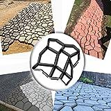 Wovte, stampo fai da te per cemento, per creare pavimentazioni di vialetti con un motivo a pietre in giardino
