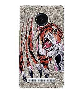 Fiobs Designer Phone Back Case Cover YU Yunique ( Tiger Face )