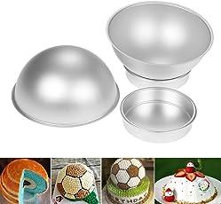 4 teilig Backform Kuchenform Kugelform Aluminium Fondant Sports Ball Set Fußball Baskeball Tennis Golf