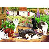 Big 500 Piece Jigsaw Puzzle Cool Cats - Cats At Farm