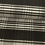 Stoffe Werning Mantelflausch Karo schwarz grau - Preis Gilt