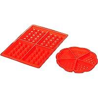 AmazonBasics Silicone Baking Round & Square Waffles Mould Muffin Pans Baking Molds