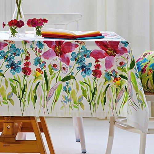 Tischdecke Apelt 4060 bunte Blumenwiese gelb (50) / 150 cm x 250 cm / waschbar bei 30 Grad / Baumwolle