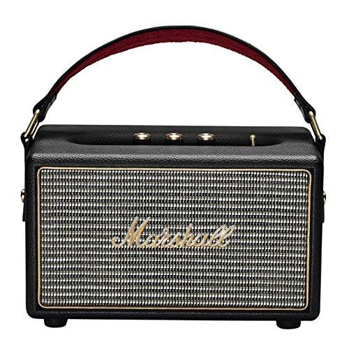 Marshall Kilburn tragbarer Bluetooth Lautsprecher (20 h Spielzeit, Bluetooth 4.0, 3,5 mm Klinke) Schwarz
