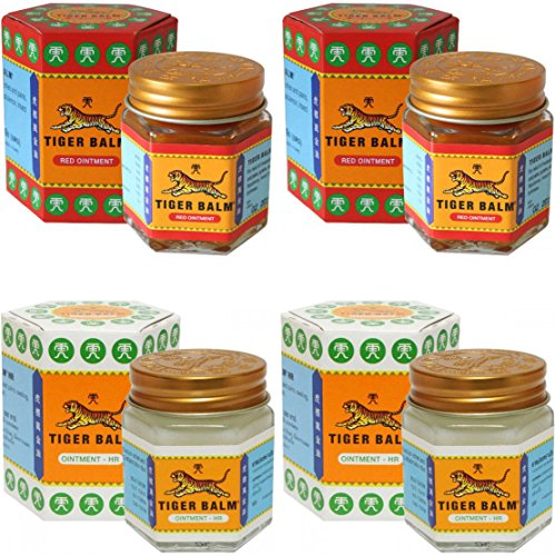 2 Jars of Tiger Balm Red Ointment 30g/Jar + 2