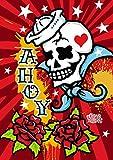 Toland Home Garden Sailor Skull 71,1x 101,6cm Dekorative Traditionelle Tattoo Flash House Flagge