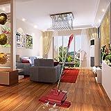 Fine Dragon Saugbohner–Aspiradora en seco y húmedo Pulidora Cera Máquina eléctrica con cuatro paños de limpieza (4en 1) para suelos duros y alfombras, color rojo
