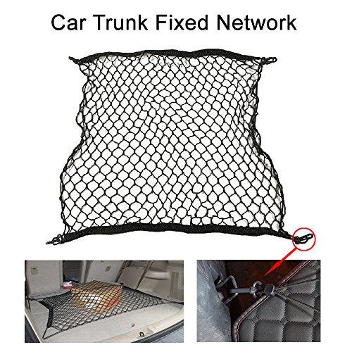 Preisvergleich Produktbild Auto-Kofferraumnetz, Gepäcknetz-Tasche mit 4Haken für Audi,universal, elastisch, Aufbewahrung