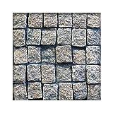 Granit Pflaster Gelblich 8 x 10 x 6-8 cm Granitpflaster Pflasterstein Naturstein 500 Steine ( 5m² )