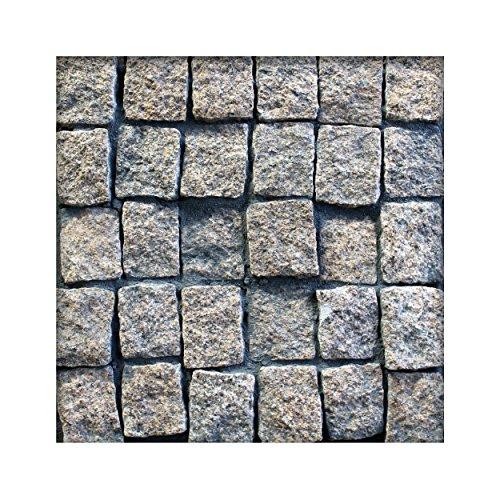 Granit Pflaster Gelblich 8 x 10 x 6-8 cm Granitpflaster Pflasterstein Naturstein 100 Steine ( 1m² )
