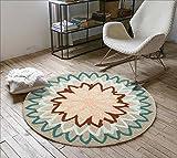 KYDJ Runden Teppich Teppich Teppich computer Fitness yoga Sitzkissen Schlafzimmer Wohnzimmer Bett Fußbodenbelag (Farbe: 2, Größe: Durchmesser 120cm)