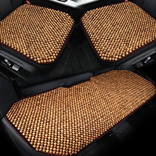 GEGEQUNAERYA Reine Natürliche holzperle Auto sitzkissen Einzigen Sommer büro Computer Stuhl Pad Sofa Bett Holz Korn Sitz Auto Styling -